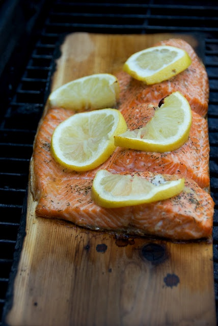 ... cafe: Cedar Plank- Grilled Garlic Herb Salmon with Lemon Butter Sauce