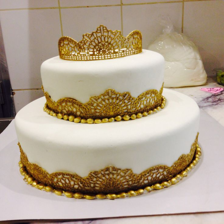princess cake with lace on birthday cakes with rainbow