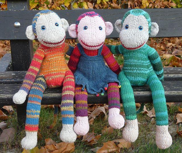 Knitted Sock Monkey Pattern : Monkey Jacobus pattern by Annita Wilschut