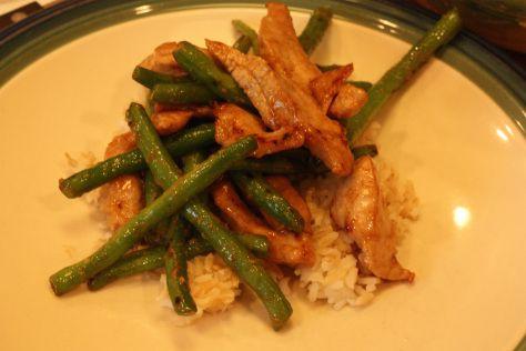 Stir-Fry Pork and String Beans