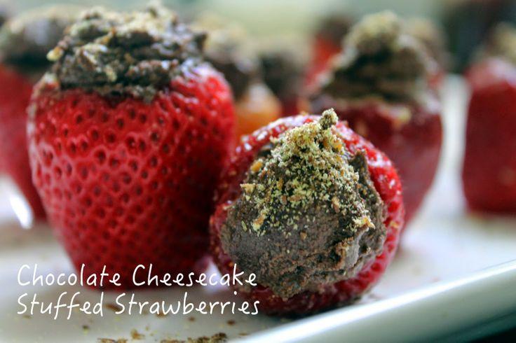RAW + Gluten Free + Vegan Chocolate Cheesecake Stuffed Strawberries ...