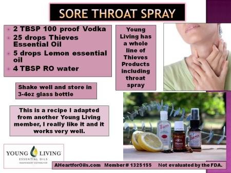 Awesome throat spray young living essential oils info pinterest