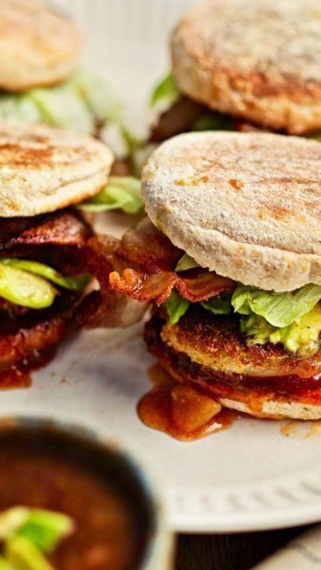 Fried Green Tomato with Bacon and Chutney Sandwich - (Free Recipe bel ...