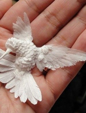 Paper sculpture by Cheong-ah Hwan