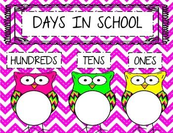 Days in School Chart!! Learn place value!