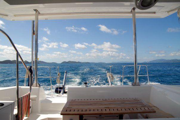 British Virgin Island sailing. Gin and tonics in the shade.