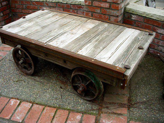 Rail Car Table Community Tables Pinterest
