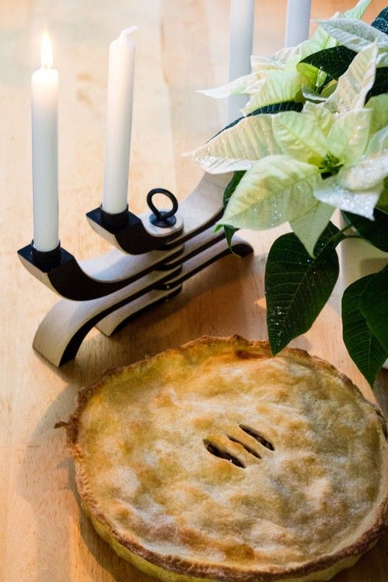 Normandy Pear Pie with walnuts