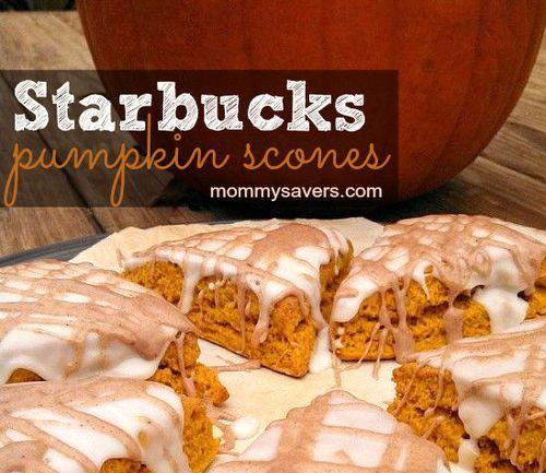 Starbucks Pumpkin Scones Copycat Recipe- Made for the office brunch ...