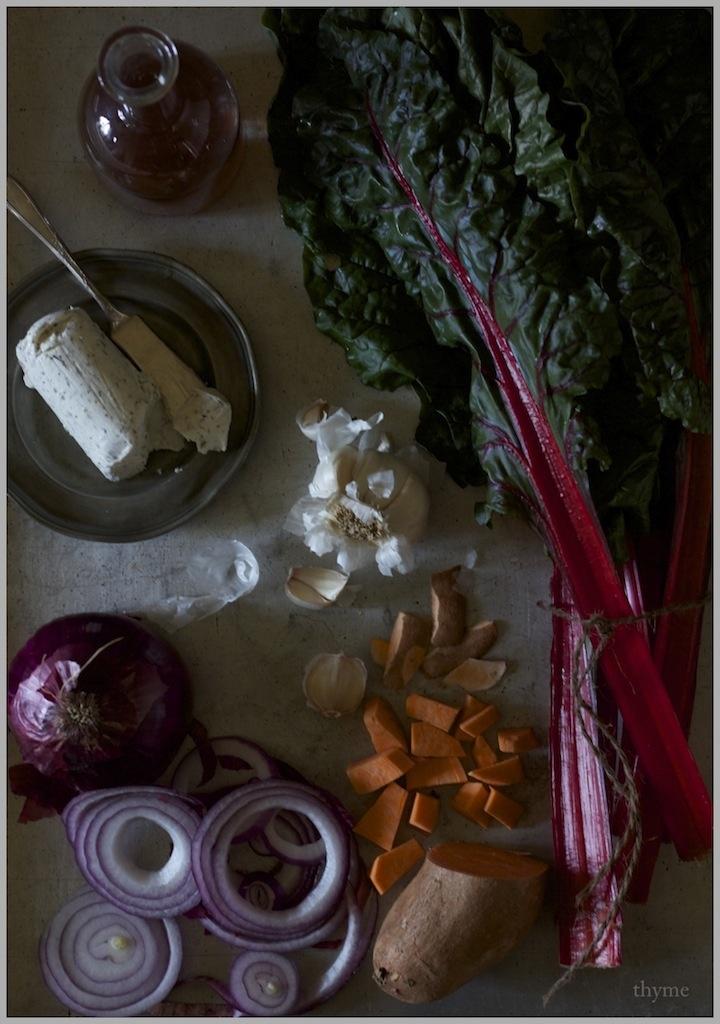 Swiss Chard, Sweet Potato, And Feta Tart In A Teff Crust Recipe ...