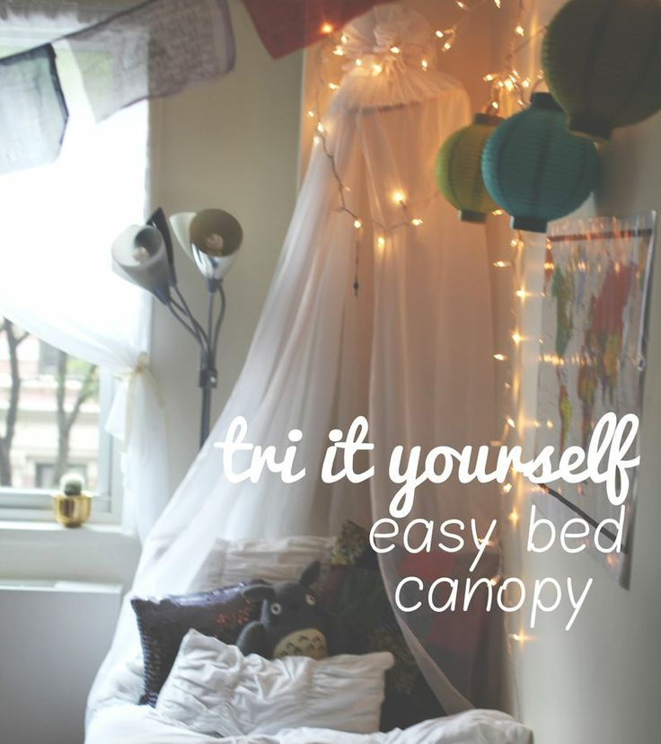 DIY simple and easy dorm bed canopy  DIY  Pinterest ~ 062429_Dorm Room Canopy Ideas