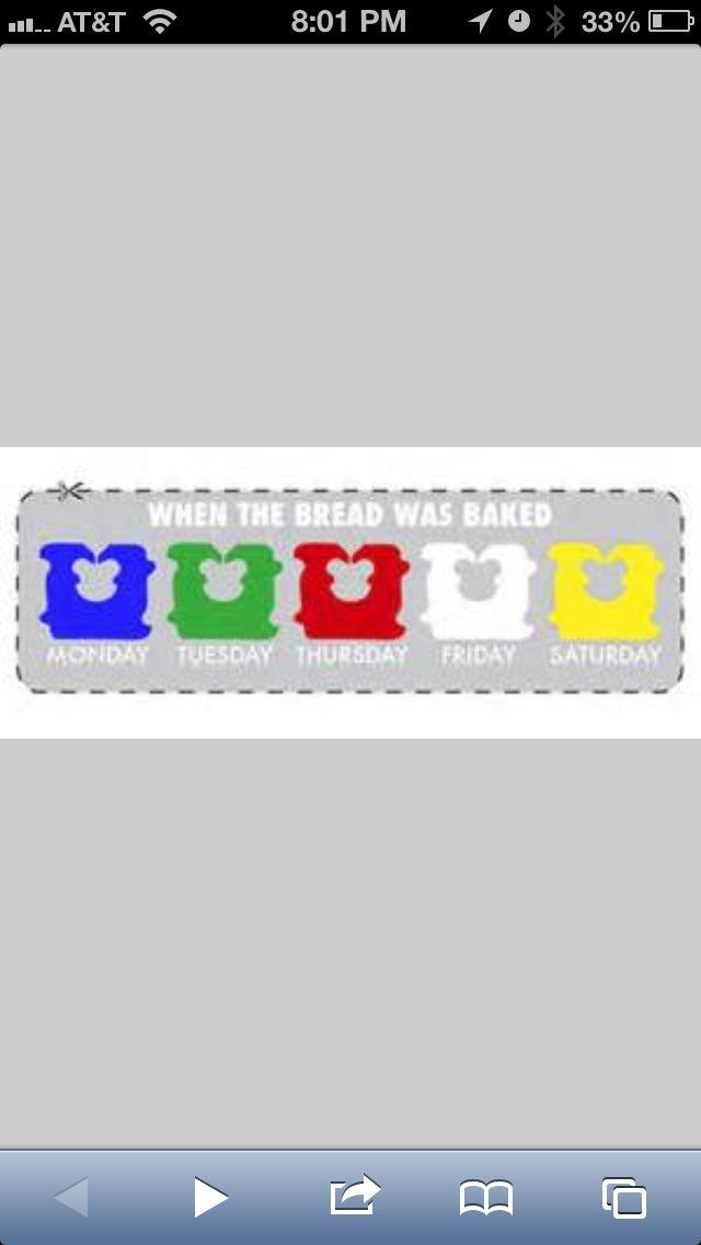 bread tie color codes food
