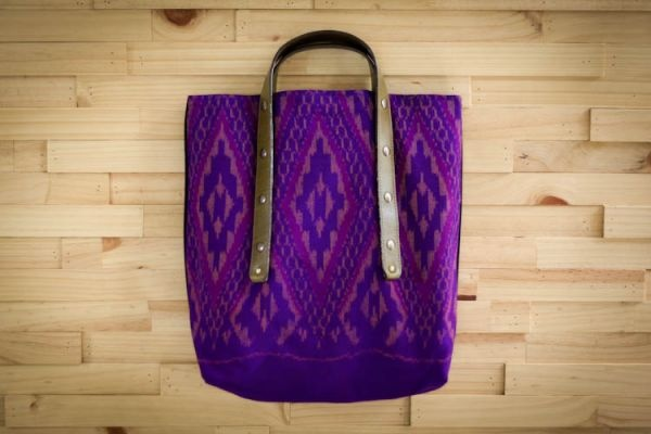Jeanne Tote Shopping Bag by www.fabric-and-handle.com