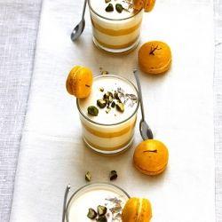 Limoncello Panna Cotta with Homemade Saffron-Lemon Curd