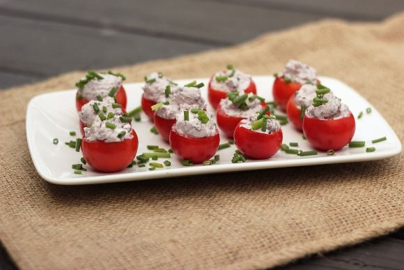 ... Restricted Diets: Kalamata Olive & Goat Cheese Stuffed Cherry Tomatoes