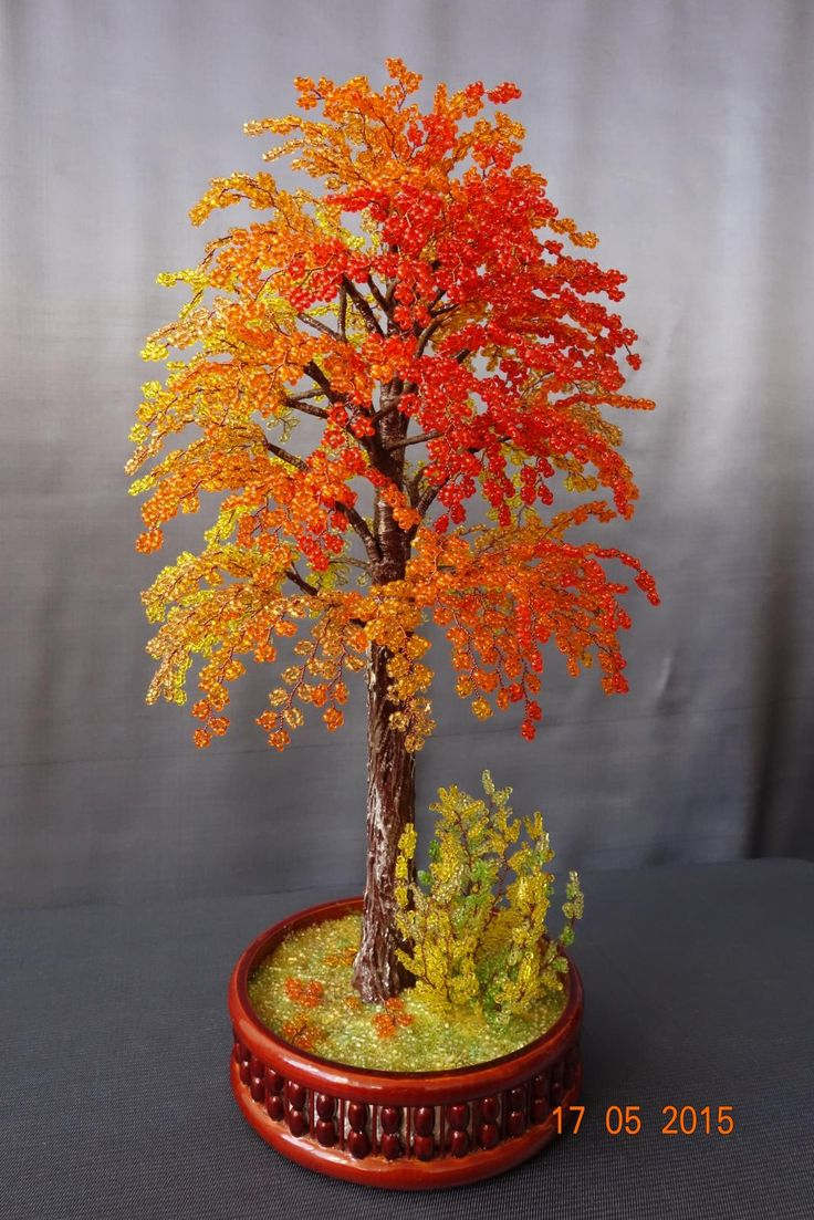Осение поделки деревья