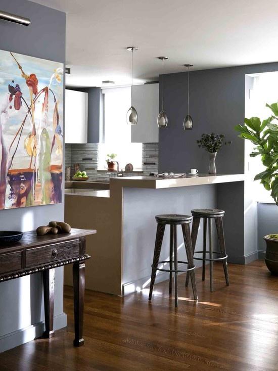 sherwin williams contemporary kitchen - photo #33