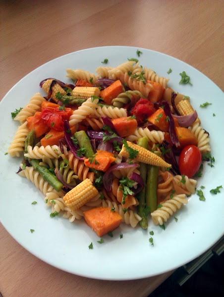 """Vickys Roasted Vegetable Pasta! 4.62 stars, 8 reviews. """"Simple veggie ..."""