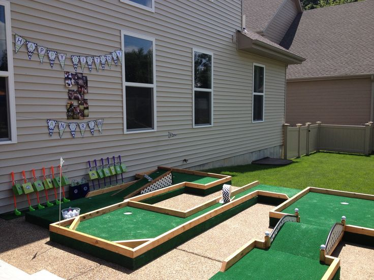 how to build a mini putt course