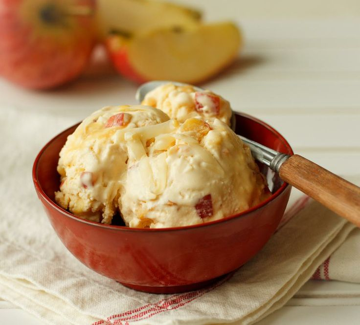 Like frosty apple pie treat! Caramel Apple & Cheddar Ice Cream