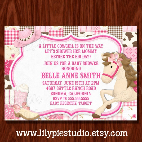 cowgirl baby shower invitation printables pinterest