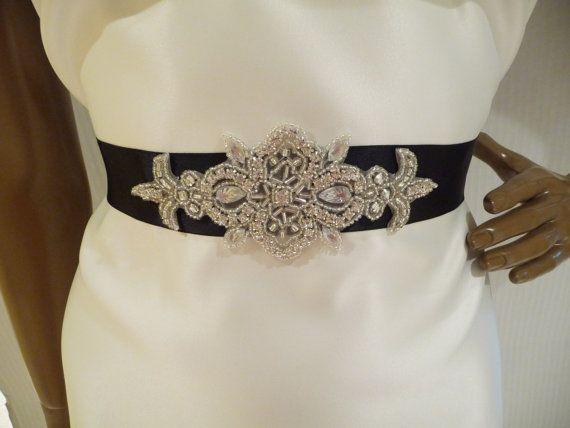 Rhinestone bridal sash stefani bridal belt by bellacescaboutique 42