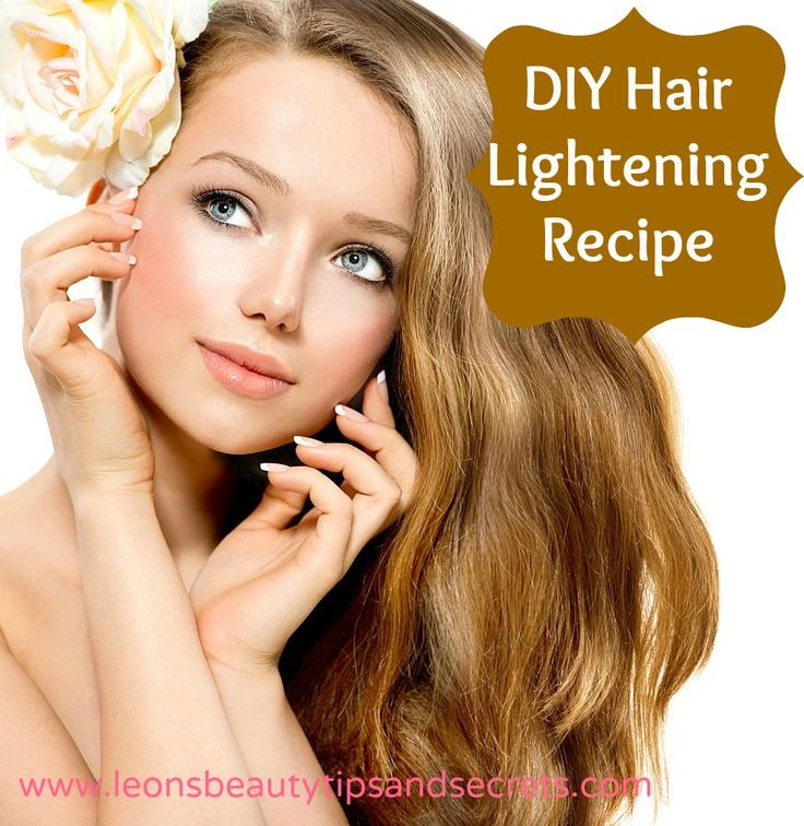 How To Lighten Your Hair Naturally And Natural Products Dark Brown ...