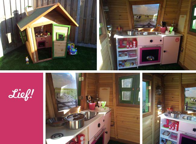 Zelfgemaakte Keuken : DIY: Zelfgemaakte keuken voor in het speelhuisje van mijn dochter