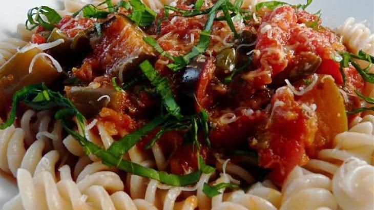 Crock Pot Pasta With Eggplant Sauce Recipe. Can add in hot Italian ...