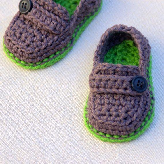 Crochet Baby Loafers Pattern Free : Crochet Pattern - Baby boy - Lil loafers super pattern ...