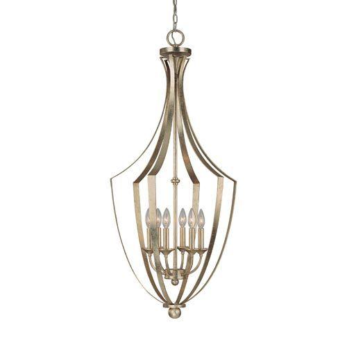Soho winter gold six light lantern pendant capital for Winter gold light fixtures