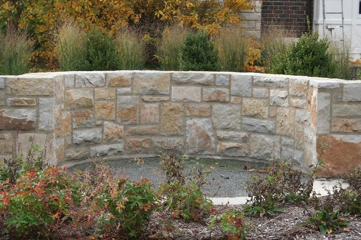 Limestone Veneer Retaining Wall Stone Exteriors Pinterest