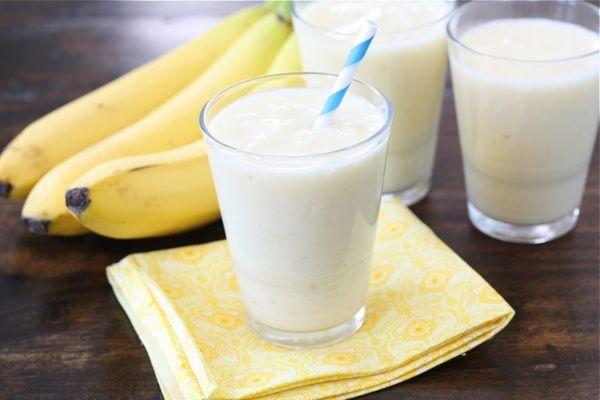 Pineapple, Coconut & Banana smoothie.