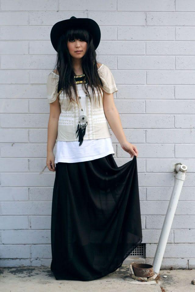 chiffon maxi skirt crafts