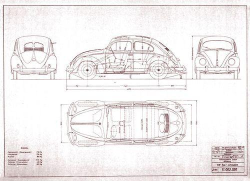 beetle blueprint | via mauro letizia