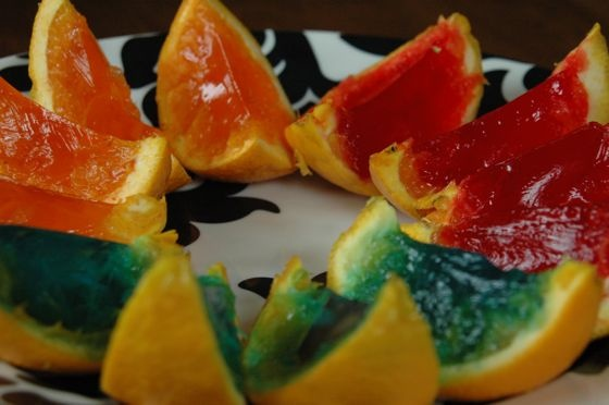 Jello Orange Wedges (Mine.) (I made these.) (True story.)