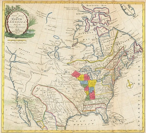 Map of Colonial North America 1781 Topographical Depiction Pinterest