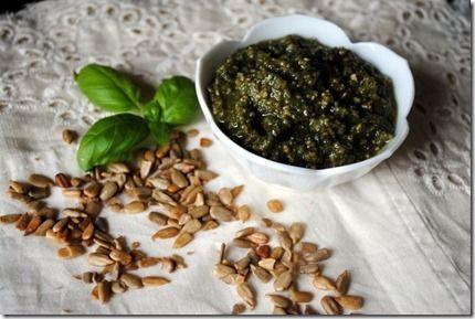 sunflower seed and walnut pesto