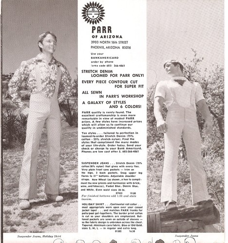 """Parr of Arizona Men's Fashion Catalog 1976. Parr just wasn't as """"exciting"""" as Ah Men or Regency Square."""
