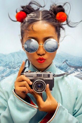 Chinese photographer Chen Man (self portrait)