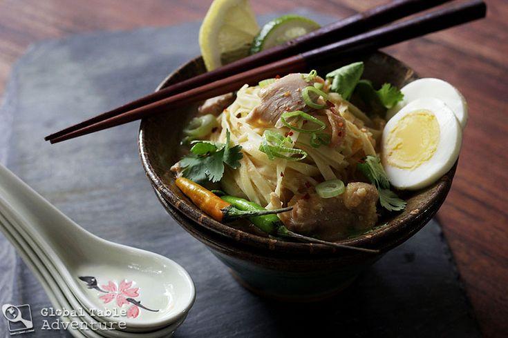 Burmese Coconut Chicken Noodle Soup (ohn-no-khao-swe) | Recipe