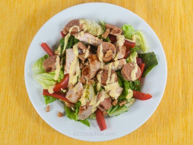Grilled Cajun Chicken Salad - CDKitchen.com - Seasoned, grilled ...