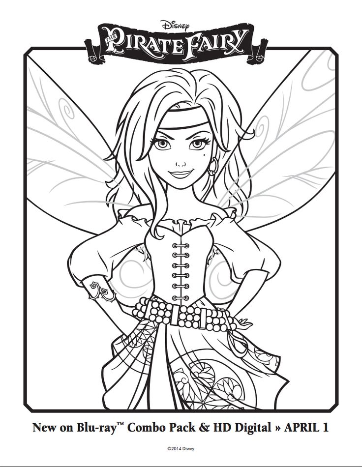 The Pirate Fairy Coloring Sheets | Disney's The Pirate Fairy ...