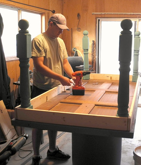 Table legs for the home pinterest - Make a table from an old door ...