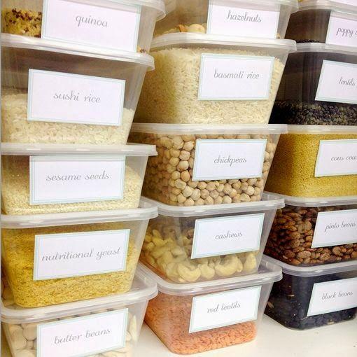Organizando a cozinha e despensa