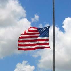 full mast flag