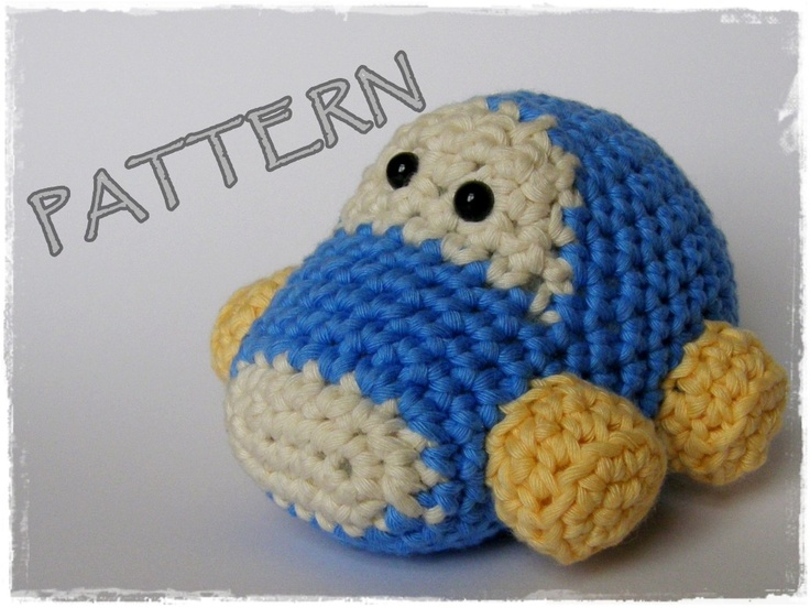 Amigurumi Free Pattern Car : Amigurumi Car crochet pattern stuffed toy tutorial pdf