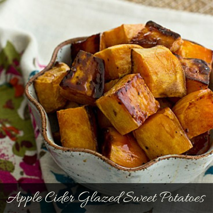 Apple Cider Glazed Sweet Potatoes | side dishes | Pinterest