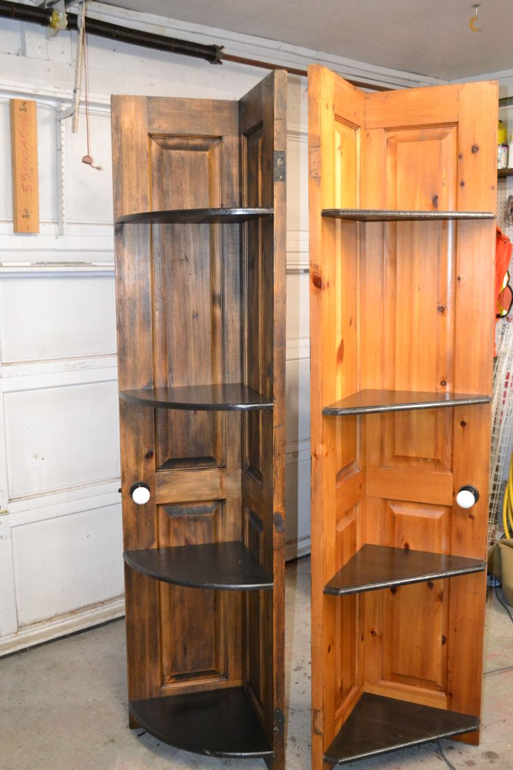Popular   Ideas Repurposed Bookcase Bookcase Worn Old Doors Door Shelves