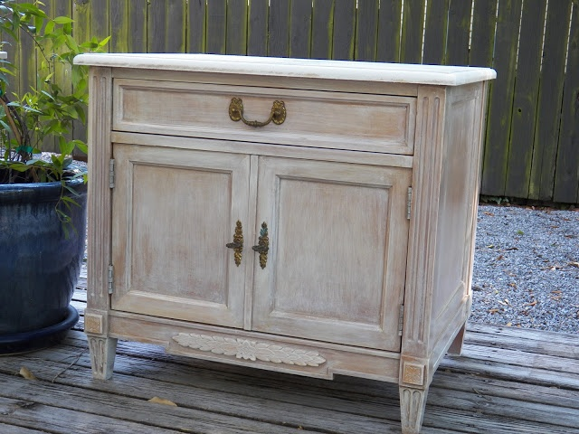 The 100 Block White Washed Nightstand Painted Furniture
